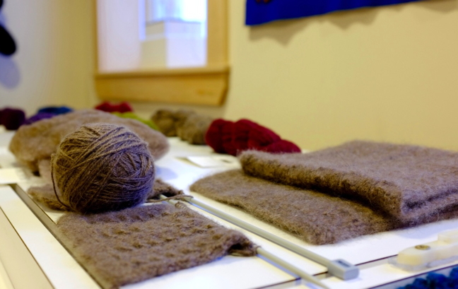 The wool spun from muskox qiviut is strong, soft and waterproof. (PHOTO COURTESY THE QIVIUT PROJECT)