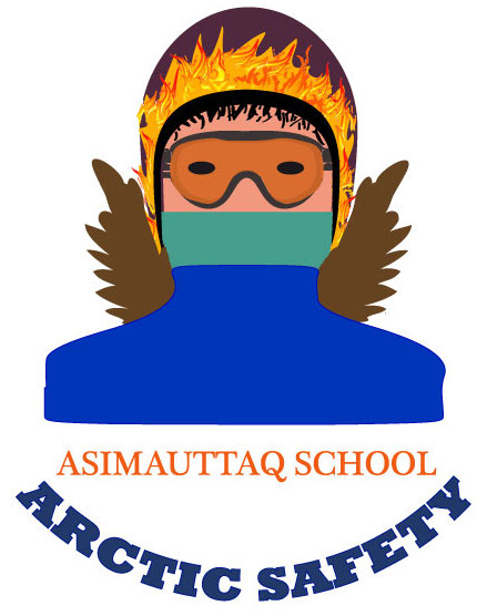 Asimauttaq school student Veronica Fleming Masty designed this logo for her school's off-road vehicle safety campaign. (IMAGE COURTESY OF I. CHU)