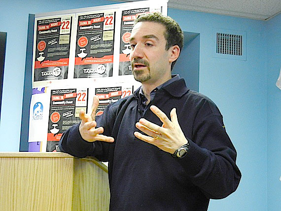 Speaking in 2012 at Iqaluit's public health office, Dr. Gonzalo Alvarez talks about the Iqaluit-based project Taima TB. In 2011, it detected four active cases of tuberculosis and provided people with information about TB in Inuktitut that they could use to stay healthy. (FILE PHOTO)