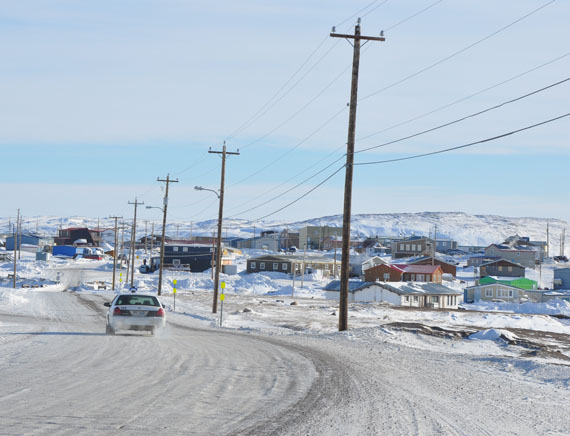 Qulliq Energy Corp. will finish installing LED street lighting this year throughout Iqaluit, as well as in three other Nunavut communities. (PHOTO BY SARAH ROGERS)