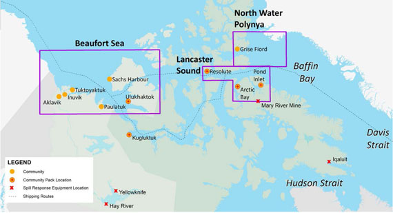 Map Of Canada Davis Strait.Canada S Unprepared For Fuel Oil Spills From Arctic Shipping Wwf