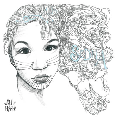Kelly Fraser depicted as Sedna, a sketch drawn by Bjorn Simonsen as artwork for her new album of the same name. (IMAGE COURTESY OF K. FRASER)