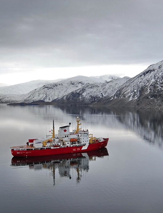 The Amundsen, shown here in a photo from ArcticNet, will spend 133 days at sea in 2017.