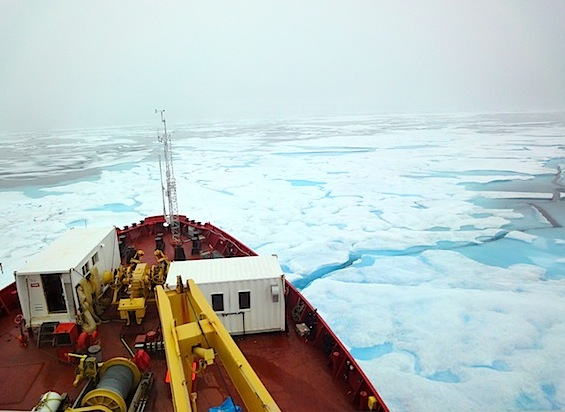 The Year of Polar Prediction, which runs over a two-year span, from mid-2017 to mid-2019, will see scientists on board research vessels, like the CCGS Amundsen, gathering air and water samples to better understand Arctic weather. (PHOTO BY JANE GEORGE)
