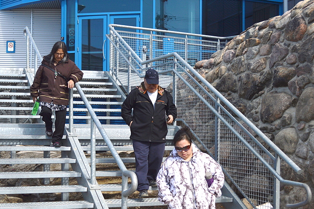 Johnny Meeko, an ex-teacher from Sanikiluaq, leaves the Nunavut Court of Justice in Iqaluit May 30. A long-awaited verdict on 32 historical sex-related crimes with former students is expected this fall. (PHOTO BY STEVE DUCHARME)
