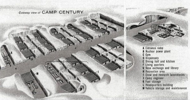 A cut-away of Camp Century from the 1960s. (PHOTO COURTESY U.S. GOVERNMENT)