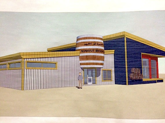 Here's a preliminary design of what the Nunavut Brewery Co. Ltd.'s Iqaluit brewery could look like. (FILE PHOTO)
