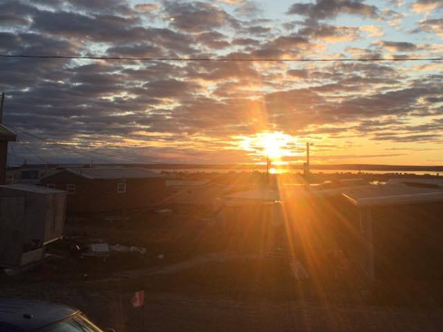 Catching a glimpse of the sunrise in Rankin Inlet is getting more and more challenging as spring progresses to the summer solstice on June 21, North America's longest day of the year. This glorious Rankin Inlet sunrise, captured on May 23, took place about 4 a.m. (PHOTO BY GEORGINA TAIPANA)