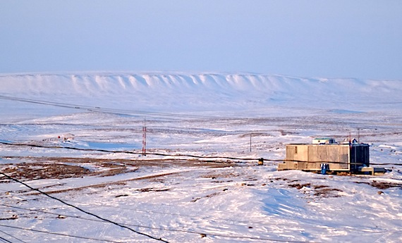 Looking to Mt. Pelly near Cambridge Bay where seven men are now participating in an on-the-land addictions treatment program. (PHOTO BY JANE GEORGE)