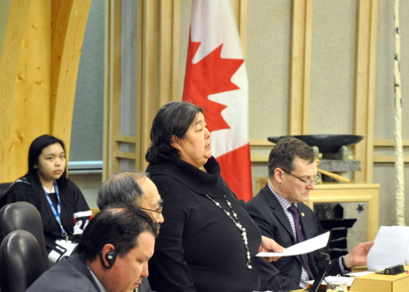 Monica Ell-Kanayuk, the Government of Nunavut's economic development and transportation minister, responding to questions in the Nunavut legislature from Iqaluit-Niaqunnguu MLA Pat Angnakak June 8, offered no guarantees that the high risk lender, Nunavut Business Credit Corporation, would disclose who it gives money to. (FILE PHOTO)