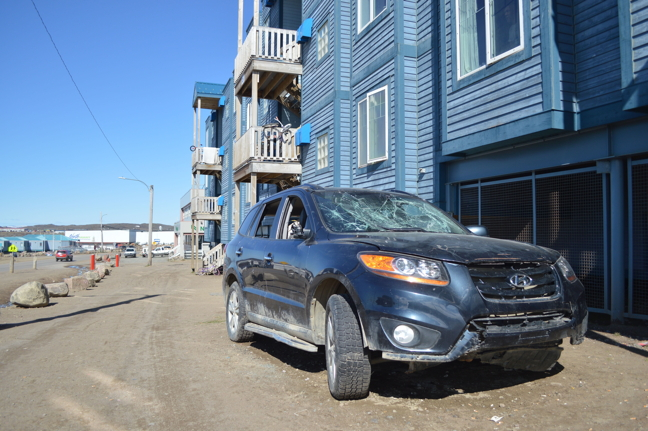 Kevin Sloboda told Iqaluit councillors June 27 that about half of the derelict and abandoned cars on Iqaluit Housing Authority lots have been towed to the scrap metal dump. (PHOTO BY STEVE DUCHARME)