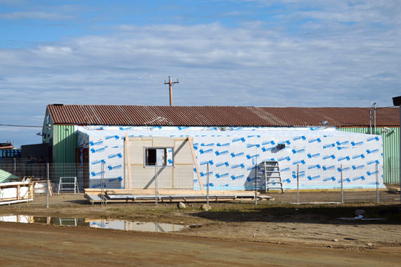 Renovation work continues at the GN liquor warehouse in Iqaluit, where a beer and wine store will open, likely this year some time. (PHOTO BY STEVE DUCHARME)