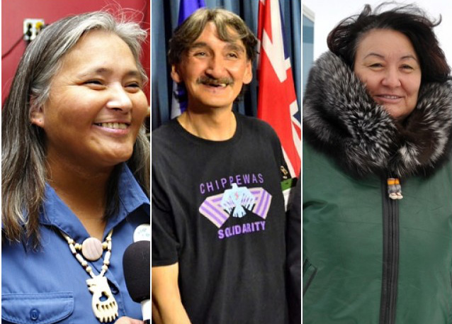 A few of the star candidates running in the Oct. 30 Nunavut election: from left, former Iqaluit mayor Elisapee Sheutiapik in Iqaluit-Sinaa; former Clyde River mayor and environmental activist Jerry Natanine and former NTI president Cathy Towtongie. (FILE PHOTOS)
