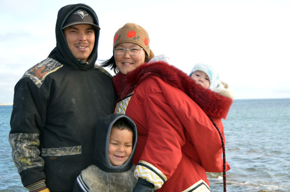 Rankin Inlet North-Chesterfield Inlet candidate Douglas Aggark with his wife Savannah Isaaluk and sons Autut and Jackson. (HANDOUT PHOTO)