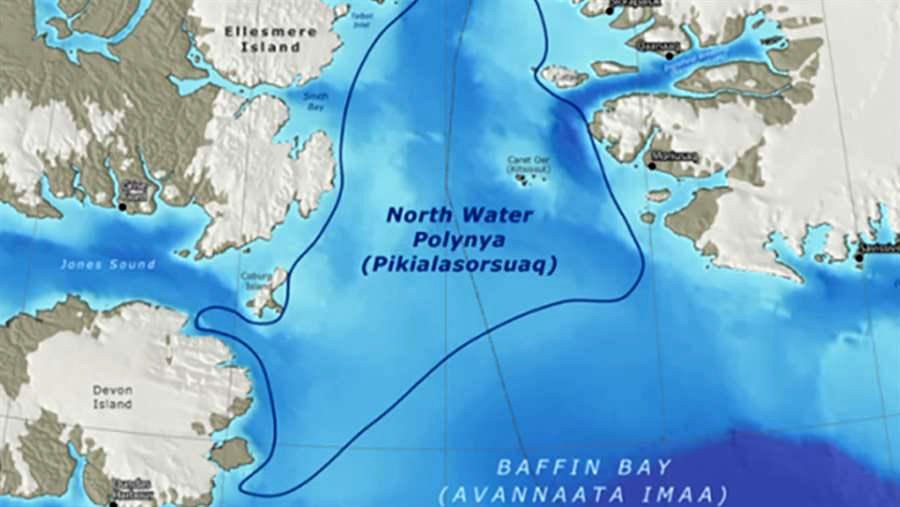 The Inuit Circumpolar Council worries that a piece of potentially toxic space junk from the second stage of a Russian rocket, which is set to fall into Baffin Bay this Oct. 13, will land within the Pikialasorsuaq or North Water polynya, an environmentally sensitive area that ICC wants to bring under Inuit management. (FILE PHOTO)