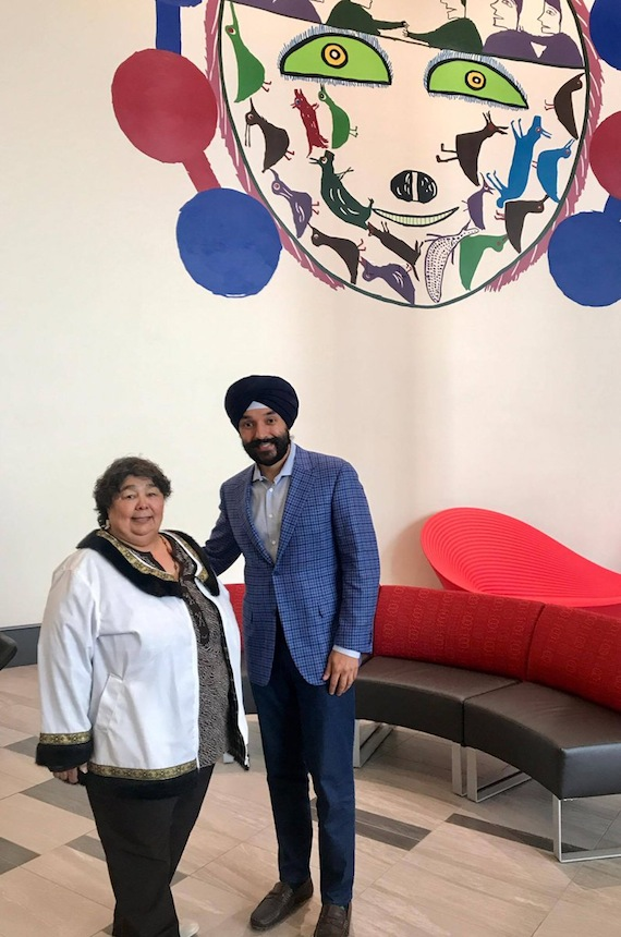 Canada's minister of economic development, Navdeep Bains, announced this week that the Nunavut Community Futures Association will receive $1 million in new capital for lending. He's seen here during the opening of Iqaluit's new airport earlier this year. (PHOTO BY STEVE DUCHARME)