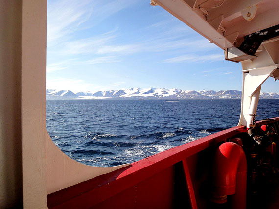 The waters of Lancaster Sound, as seen from the deck of the Coast Guard research vessel Amundsen in 2010. (PHOTO BY JANE GEORGE)
