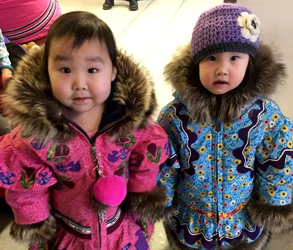 Here's our fifth most popular photo of 2017, based on numbers of views, likes and shares on the Nunatsiaq News Facebook page: Cousins Erica Taipana of Cambridge Bay, aged 22 months and Ophelia Bolt of Kugluktuk, aged 20 months, model new winter parkas earlier this year. The traditional Kitikmeot-style parkas are the creations of their grandmother, seamstress Lucy Taipana of Kugluktuk. Nunatsiaq News will not publish a print paper on Friday, Dec. 29. We'll publish our first print paper of 2018 on Jan. 5. Our office will re-open Jan. 2. (PHOTO COURTESY OF JAMIE TAIPANA)
