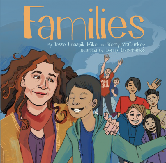 Cover art for a new Inhabit Media book that celebrates family diversity in Nunavut. You can get the book in Iqaluit, Feb. 25, at Inhabit Media's upcoming author event. (PHOTO COURTESY OF INHABIT MEDIA)
