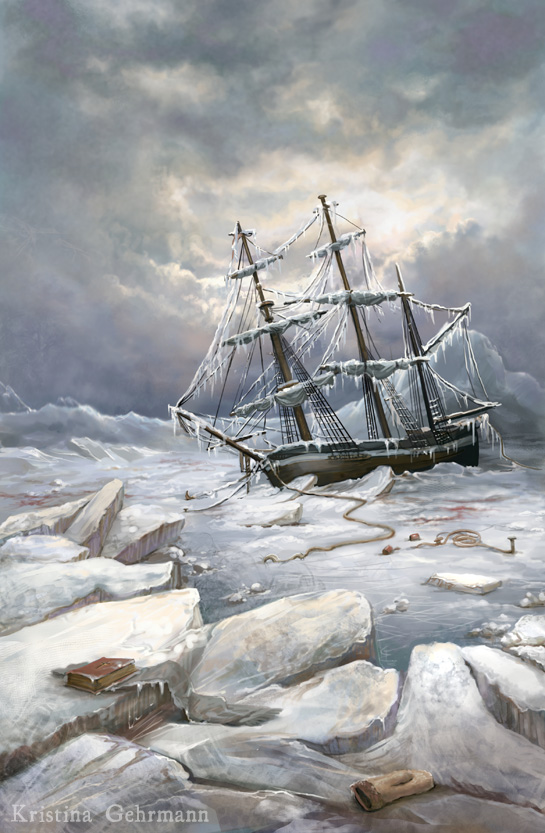 Trapped in the ice, an image of one of the Franklin expedition ships. (PHOTO COURTESY OF KRISTINA GEHRMANN)