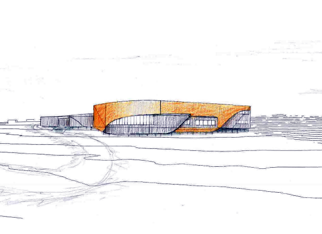 This artist's rendering shows plans for the future Isuarsivik Regional Recovery Centre, set to be built along Nuvuuk Bay in Kuujjuaq by 2020. (FILE IMAGE)