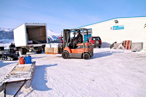 The Pangnirtung fish plant as it looked in 2012. Earlier this week, thieves broke in and stole thousands of dollars of cash from the business, which creates up to about 40 local jobs each year. (FILE PHOTO)