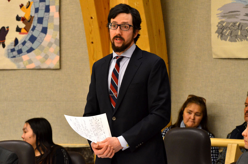John Main, the MLA for Arviat North-Whale Cove, said March 7 that a bad devolution deal with Ottawa could leave the Nunavut government worse off than it is now. (PHOTO BY STEVE DUCHARME)