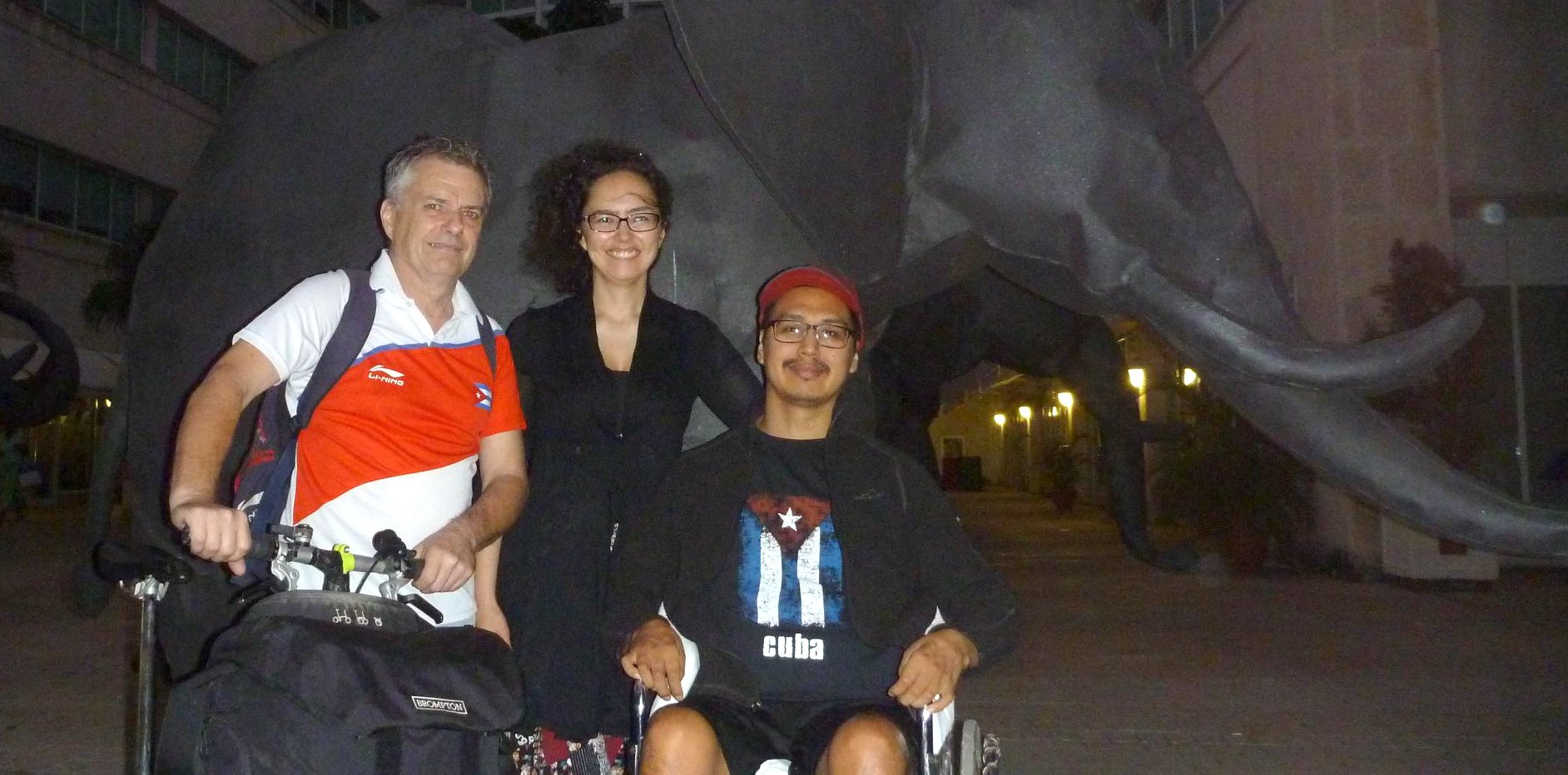 In Havana, together, Dan Boychuk, Tuutalik Boychuk and Napu Boychuk, who has been in Cuba since late 2015 when he broken his back in a swimming mishap in Varadero. (PHOTO COURTESY OF T. BOYCHUK)