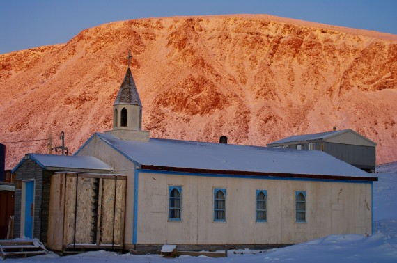 This photo of St. Peter's Anglican Church, the only church in Grise Fiord, was taken in 2011. The church, while still standing, was ruined beyond repair in an accidental fire on Feb. 27. (PHOTO BY FRANK REARDON)