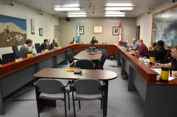 The City of Iqaluit's administrators believe they're on track to eliminate the deficit by the end of the year, city councillors heard at a March 26 meeting. (PHOTO BY STEVE DUCHARME)