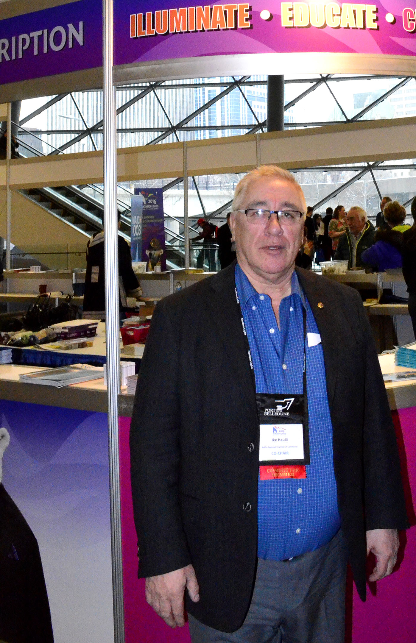Ike Haulli of Igloolik, owner of Savik Enterprises Ltd. in 2016, when he served as president of the Baffin Regional Chamber of Commerce and co-chair of that year's Northern Lights trade show in Ottawa. Justice Earl Johnson has ruled, in a civil court judgment, that Haulli must pay $1.22 million in general, special and punitive damages to four people he sexually assaulted between 1968 and 1986. (FILE PHOTO)