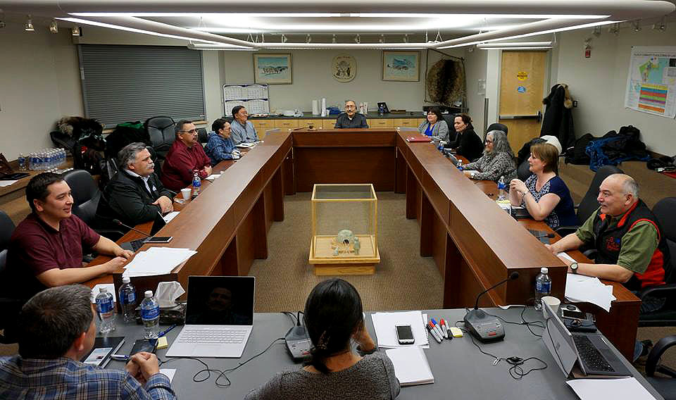 The Nunavut cabinet meets in Igloolik this past January, prior to a full caucus meeting of all MLAs held in February. (GN HANDOUT PHOTO)
