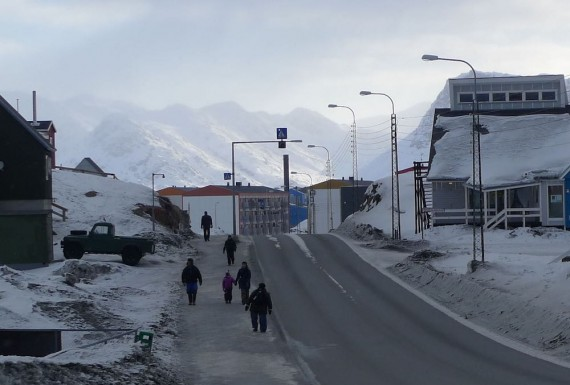 Today, the majority of Greenland's residents speak a form of Greenlandic, although it is less necessary in larger towns, such as Sisimiut, pictured here. (PHOTO COURTESY OF KEVIN MCGWIN/ARCTIC TODAY)