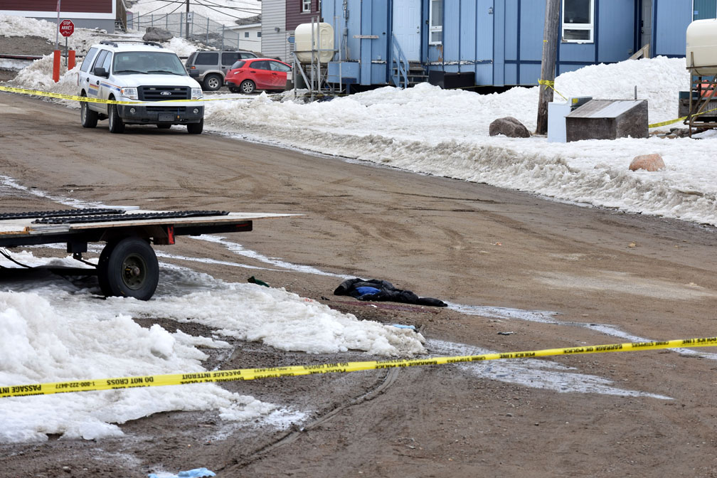 Members of the Nunavut RCMP major crimes unit and forensic ID section are now investigating the deaths of two people who succumbed to injuries this morning after a