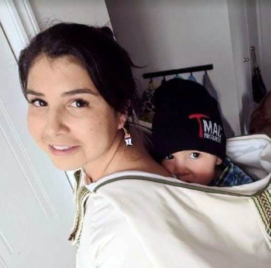 Tina DeCouto of Iqaluit is one of this year's Jane Glassco fellows for 2018–2019, pictured here with her young son. (HANDOUT PHOTO)