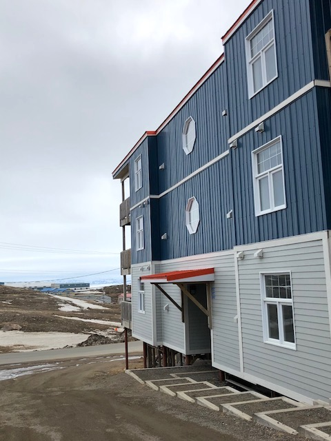 Part of the solution to Nunavut's housing crisis: affordable condos like these ones in the Road-to-Nowhere neighbourhood of Iqaluit which are sold to Government of Nunavut employees. (PHOTO BY JANE GEORGE)