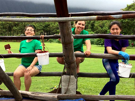 While visiting Hawaii in late April, students from Nunavut Sivuniksavut spent the day volunteering at an after-school program called Hui Malama O Ke Kai, where they helped preserve the wood frame of a traditional canoe house. NS students worked on this canoe house in 2016 also, when they travelled to Hawaii for that year's cultural exchange trip. (PHOTO COURTESY OF NUNAVUT SIVUNIKSAVUT)