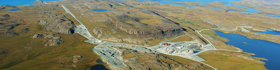 An aerial view of the Hope Bay gold project. (FILE PHOTO)