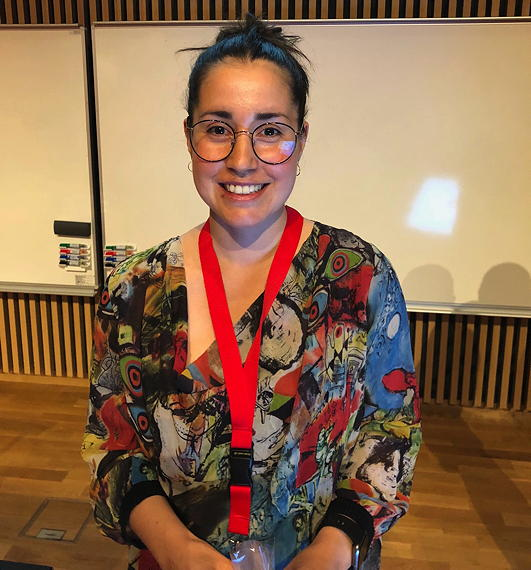 Shown here at the recent International Congress of Circumpolar Health in Copenhagen, Aviaja Hauptmann, who holds a Ph.D. in microbial ecology and bioinformatics from Technical University of Denmark, heads the Greenlandic Diet Revolution project. She lists her main scientific interests as
