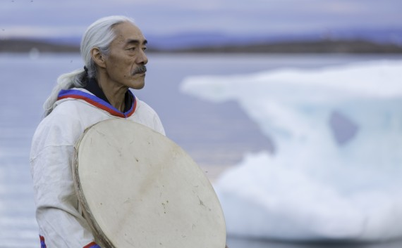 Pakak Innuksuk, an Inuit drummer, will be one of the instructors at Qaggiavuut's course on traditional Inuit pisiit songs that were banned for decades by missionaries. Students from across Nunavut will learn eight Inuktitut songs from eight elders from Monday to Friday and will perform the first public pisiit concert in 50 years next Thursday. (PHOTO COURTESY OF QAGGIAVUUT)