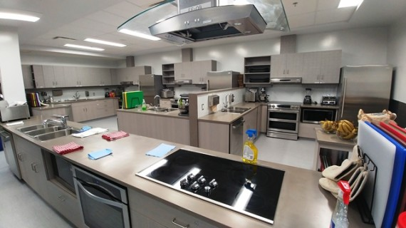 Many mothers were impressed with the home economics room at Cape Dorset's new high school during an open house on Sept. 10, the principal said. (PHOTO COURTESY OF THE DEPARTMENT OF EDUCATION)