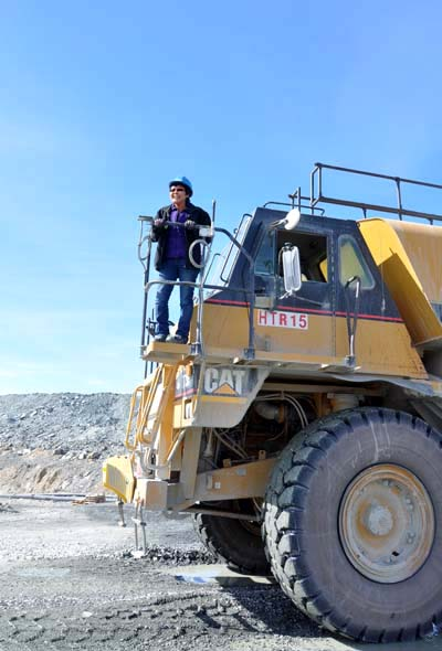 Blandina Kashla, a haul truck driver from Baker Lake, works at Agnico Eagle's Meadowbank gold mine on June 23, 2014. At that time, most of Meadowbank's haul truck operators were Inuit, numbering about 75 people. Nearly one-third of them or, or 22, that year were women. (FILE PHOTO)