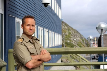 Commander Senior Grade Jakob Rousøe is head of operations for the Danish Defence Joint Arctic Command in Nuuk, Greenland. (PHOTO BY BETH BROWN)