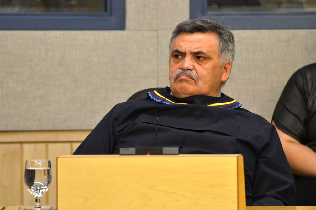 Lorne Kusugak, Nunavut's minister of community and government services, urged MLAs on Oct. 30 to support a $5-million plan to start work on fibre optic links to four Nunavut communities. A motion to delete the item from the capital estimates was ultimately defeated. (FILE PHOTO)