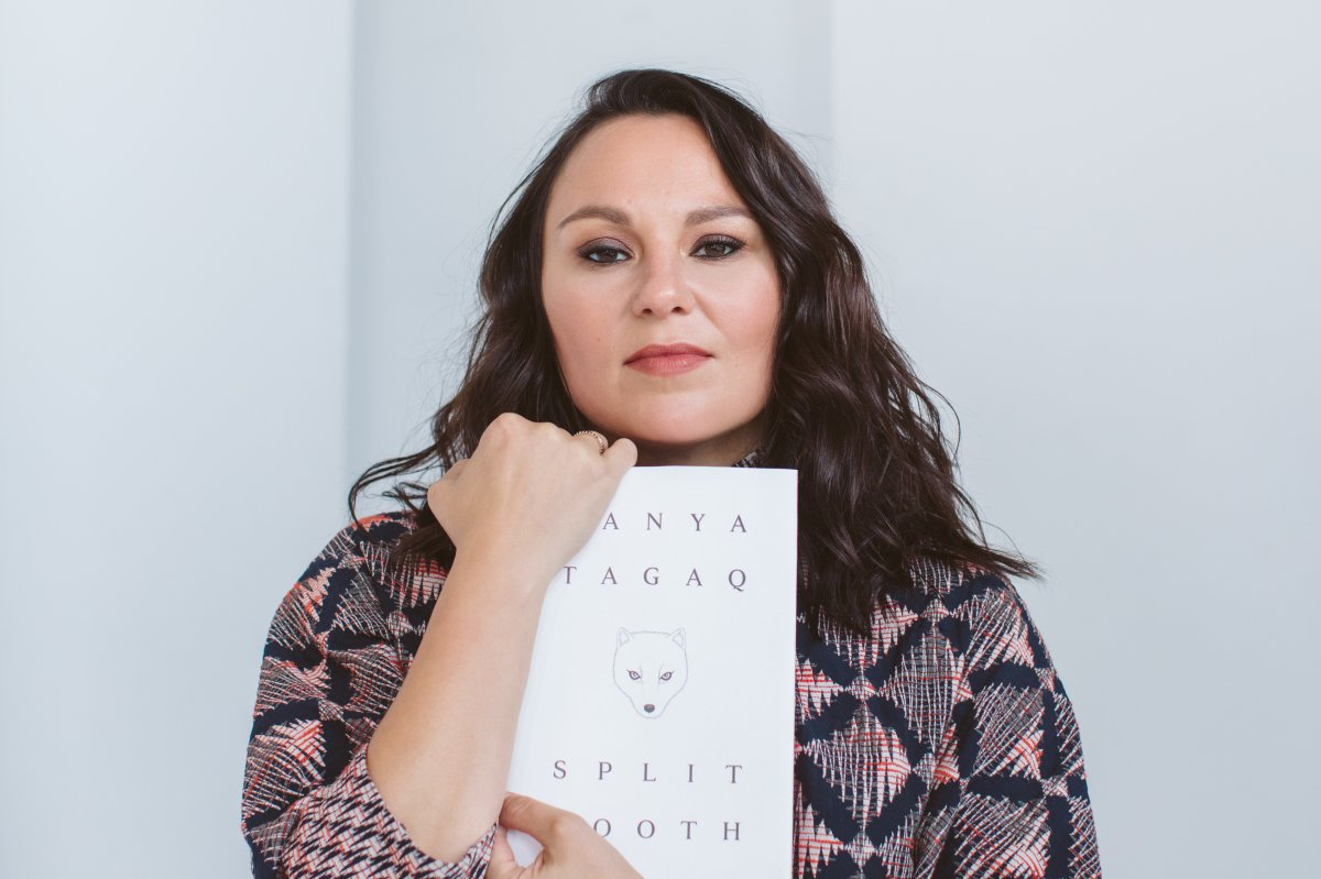 Nunavut's Tanya Tagaq holds a copy of her new book, Split Tooth, published by Penguin Random House Canada. (PHOTO COURTESY OF PENGUIN CANADA)