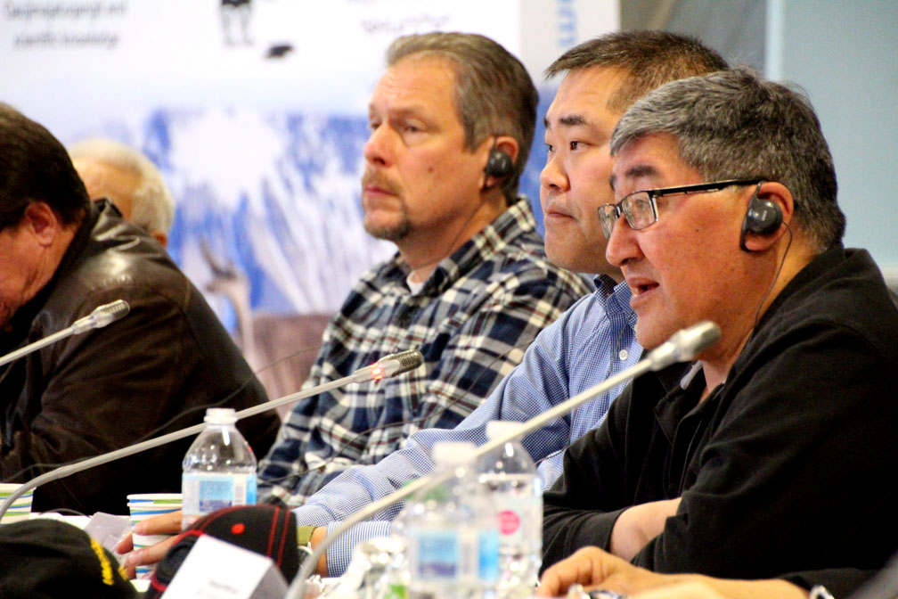 Public safety should be a top priority in the management of polar bears in Nunavut, Paul Irngaut, the director of wildlife and environment at Nunavut Tunngavik Inc., said this week at a public hearing in Iqaluit held by the Nunavut Wildlife Management Board. (PHOTO BY BETH BROWN)