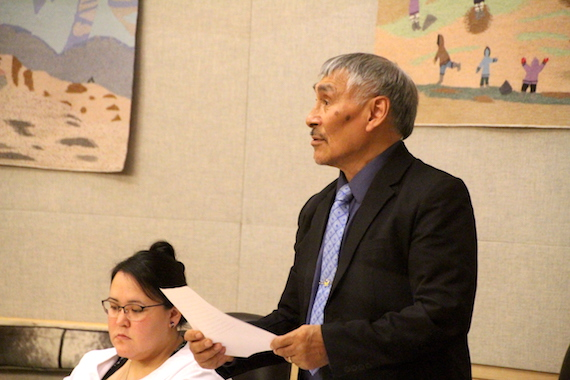 Make cruise shipping safe: that's the message from Netsilik MLA Emiliano Qirngnuq as he delivered a member's statement Oct. 29 in the Nunavut legislature. (PHOTO BY BETH BROWN)