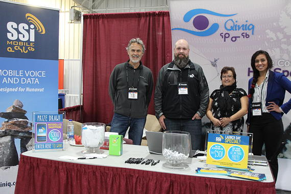 SSi Micro representatives at the Nunavut Trade Show in Iqaluit last September. (FILE PHOTO)