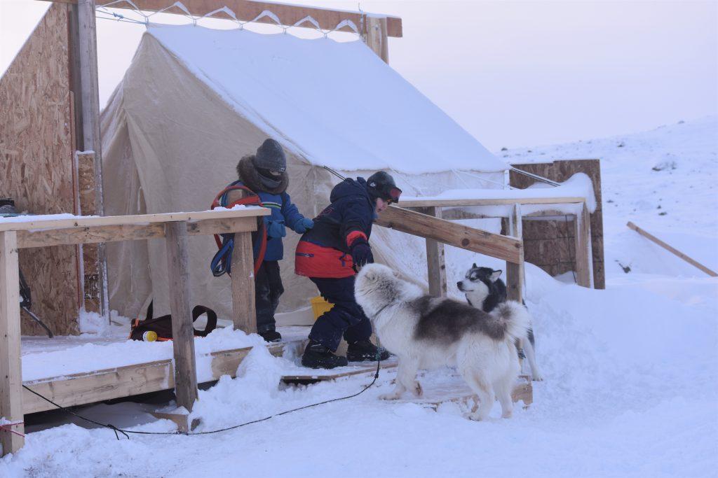 École des Trois Soleils students in Iqaluit, Nunavut