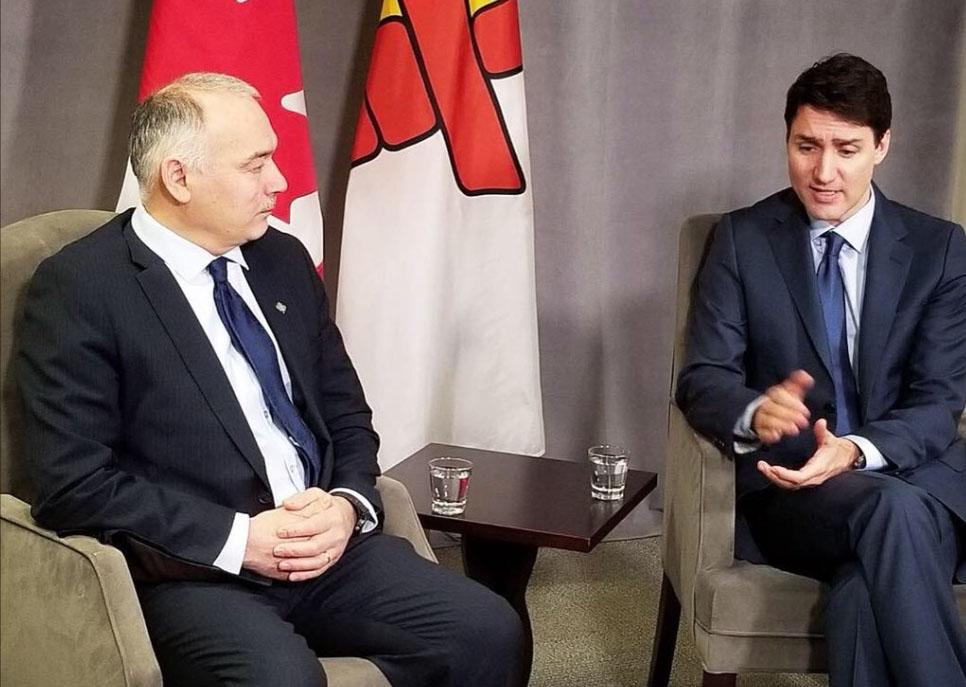 Nunavut Premier Joe Savikataaq meets with Prime Minister Justin Trudeau